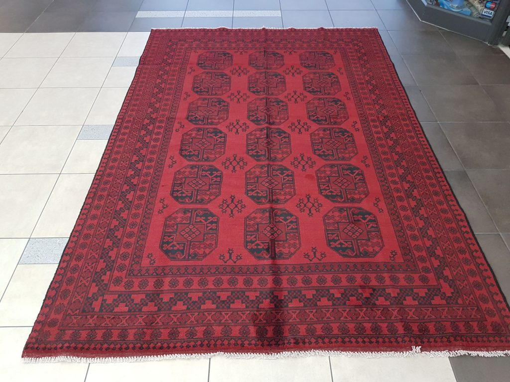 Beautiful Red Afghan Carpet