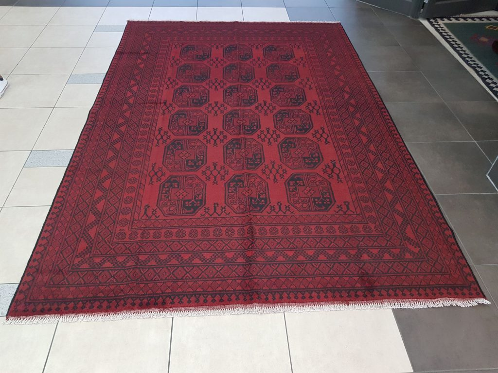 Red Afghan Carpet